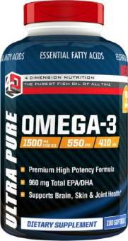 4 dimension nutrition Ultra Pure Omega 3 (Fish OIL) 100 softgels