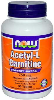 Now sports Acetyl L-Carnitine 750 mg 90 таб